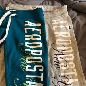 A bundle of two pairs of Aeropostale sweatpants